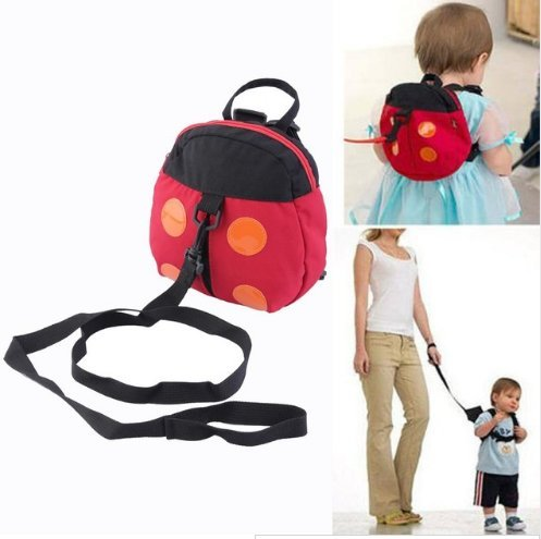 Cute Baby Kids Cartoon Adjustable Backpack Anti-lost Toddler Walking Safety Harness Strap Ladybird Shape Design (Baby Halloween Costumes Mothercare)