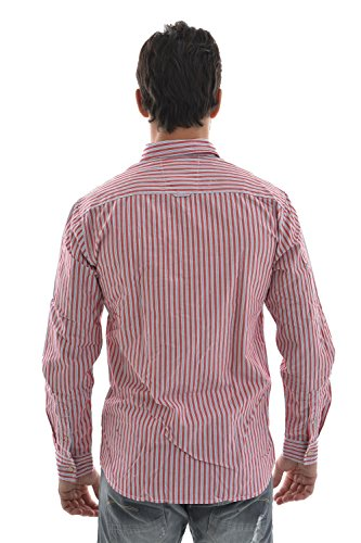 Selected Camicia river shirt ls, colore: rosso