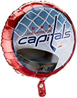 "Anagram International Washington Capitals Foil Flat Party Balloons, 18"", Multicolor"
