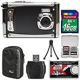 Bell & Howell Splash3 WP20 HD Shock & Waterproof Digital Camera (Black) with 16GB Card + Case + Reader + Tripod + Kit