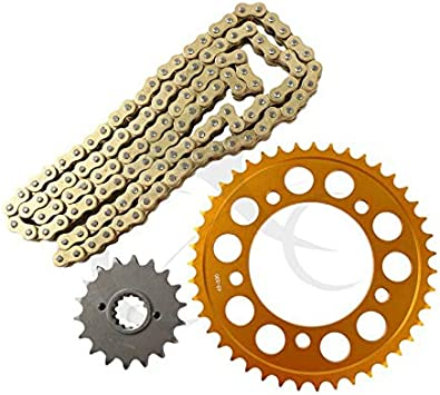 Yamaha YZ85 Large Wheel 2003 DID Gold Heavy Duty Chain and Sprocket Kit