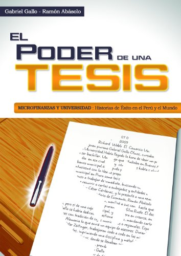 Amazon.com: El Poder de una Tesis (Spanish Edition) eBook: Gabriel Gallo Olmos, Jorge Abásolo Adrianzen, Lucía Gallo Quiroz: Kindle Store
