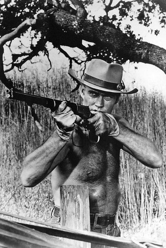 Chuck Connors Poster Barechested The Rifleman