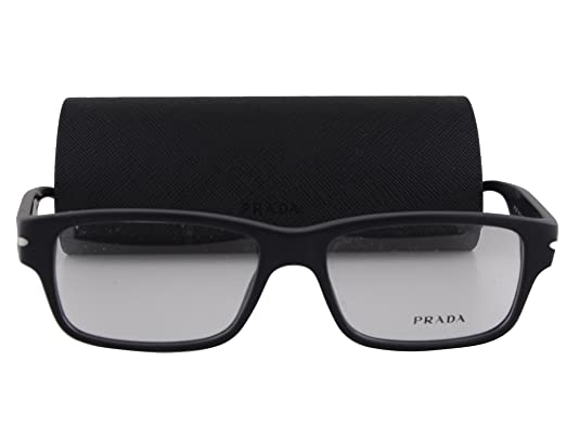 43f13bb3a33 Amazon.com  Prada PR 22RV Eyeglasses 54-16-145 Matte Black w Demo Clear  Lens 1BO1O1 VPR22R VPR 22R PR 22RV  Clothing