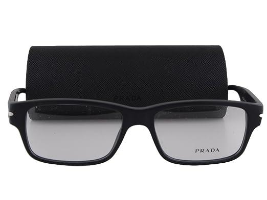 43f13bb3a33 Amazon.com  Prada PR 22RV Eyeglasses 54-16-145 Matte Black w Demo Clear  Lens 1BO1O1 VPR22R VPR 22R PR 22RV  Clothing