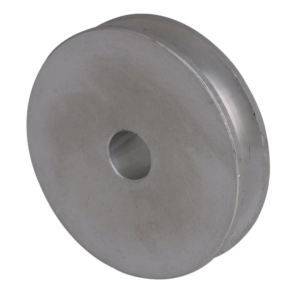 5/mm PU rond ceintures BQLZR 41/x 16/x 8/mm Argent en alliage daluminium Unique Groove fixe 8/mm al/ésage Poulie pour moteur Tige 3