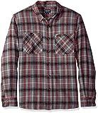 Smith's Workwear Men's 100% Cotton 4 Oz Flannel Shirt, Grey, Medium
