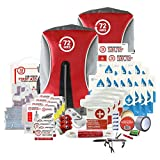 Earthquake Preparedness Kit, Emergency Kit, Survival Kit for 4 Person - 72HRS Backpack Deluxe Kit by 72Hours
