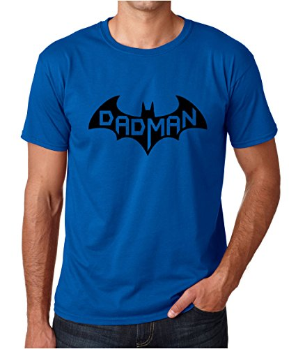 CBTWear Dadman - Super Dadman Bat Hero Funny Premium Men's T-Shirt (X-Large, Royal Blue)
