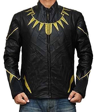 Chadwick Boseman Black Panther Suit Jacket (XS, Black and Gold)