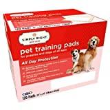 Simply Right 120 Count Pet Training Pads, 23 by 24-Inch For Sale