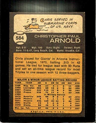 Amazon com: 1973 TOPPS #584 CHRIS ARNOLD EXMT GIANTS