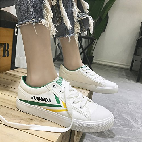 Mens Espadrilles Canvas Flat Shoes Shoes Casual HUAN Loafers Green Shoes Trainers Deck 5HOqR1
