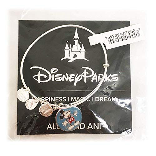 Alex and Ani Disney Parks Mickey Mouse Heart Shorts Bangle Bracelet (Silver)