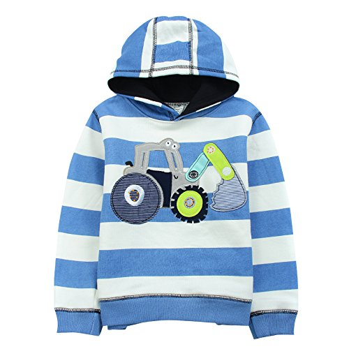 Neighbor Girl Children's Baby Cartoon Digger sweatshirts Hooded 100% cotton (2-7 years old) (Hollween Costumes Ideas)