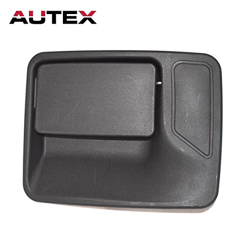 AUTEX Black Exterior Outer Rear Left Driver Side Door Handle for 1999-2015 Ford F-350 Super Duty-Crew Cab (F350 Super Duty Rear Door)