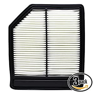 3-Pack Replacement Engine Air Filter for 2011 Honda Civic L4 1.8 Car/Automotive - Rigid Panel Filter, ACA-10165