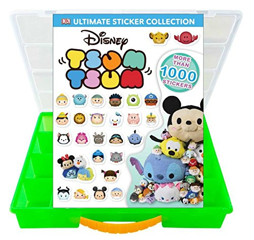 [Official Disney Tsum Tsum Sticker Book + Mini Figures Compatible Storage Organizer. Stores Up to 60 Mini Figures. Customize Your Children's Storage Box With This Ultimate 1000+ Sticker] (Rafiki Costume With Cat)