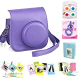 CAIUL 7 in 1 Fujifilm Instax Mini 8 Instant Film Camera Accessories Bundle(Purple Instax Mini 8 Case/ Mini Album/ Close-Up Selfie Lens/ 4 Colors Close-Up Lens/ Wall Hang Frames/ 3 inch Film Frame/ Film Stickers)