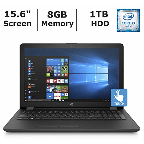 HP Notebook 15.6 Inch Touchscreen Premium Laptop PC , 6th Gen Intel Core i3 2.0GHz Processor, 8GB DDR4 RAM, 1TB HDD, SuperMulti DVD Burner, Bluetooth, Windows 10 -
