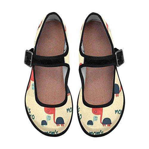 InterestPrint Womens Comfort Mary Jane Flats Casual Walking Shoes Multi 9 xpRLOF