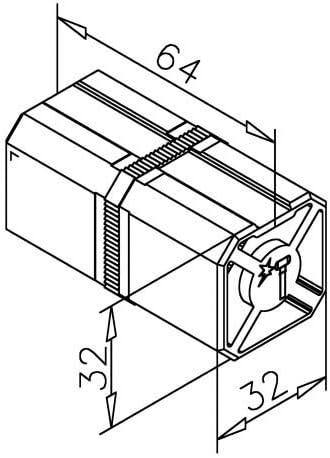 Raccord de tuyau int/érieur non visible pour tube carr/é 35/x 35/mm