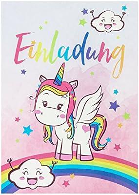 10 dulces invitaciones vintage con unicornios, para ...