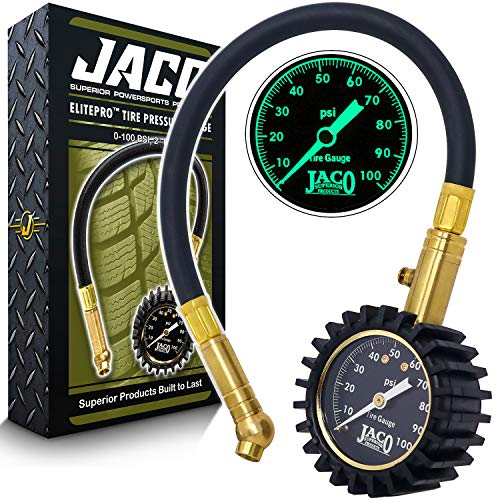 JACO ElitePro Tire Pressure Gauge - 100 PSI (The Best Tire Pressure Gauge)