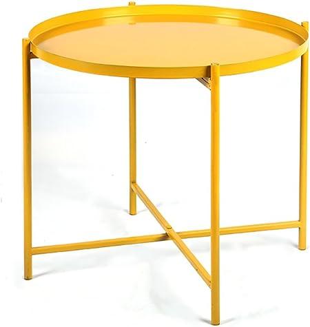 ZWD Fer Forgé Pliant Petite Table Basse Canapé Coin Élégant ...