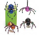 Set of 4 Spider Bells Halloween 4 Different Colors
