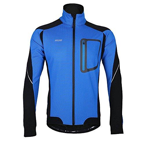 Arsuxeo MTB Mountainbike Jacket Winter Warm Heiß Radfahren Lang Ärmel Jacket Fahrrad Kleidung Winddicht Jersey