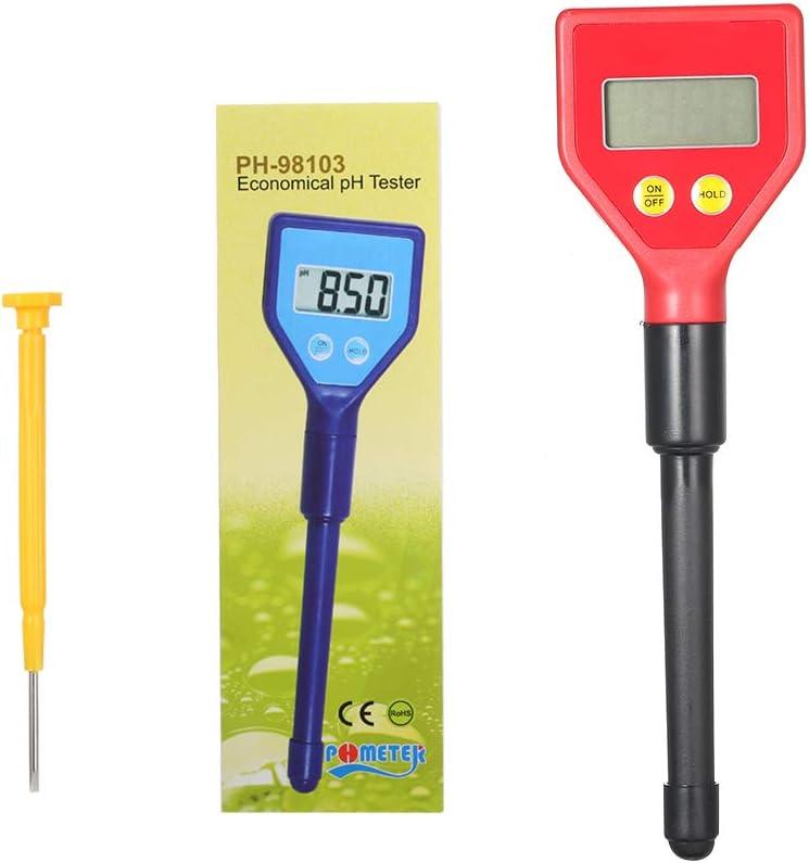 Festnight Testeur portatif dhumidit/é du sol pH testeur avec /écran LCD PH-98103 pH m/ètre de sol num/érique