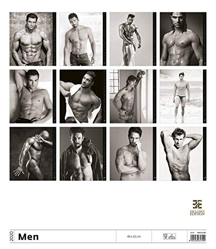Men Wall Calendar - Calendars 2019 - 2020 Wall Calendar - Adult Calendar - Sexy Men Calendar - Poster Calendar - Photo Calendar By Helma (Multilingual Edition) (Sexy Men Calander)