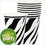 Zebra Stripes Animal Print Paper Cups (18ct)