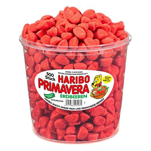 Haribo small Primavera Strawberries, 690g Tub