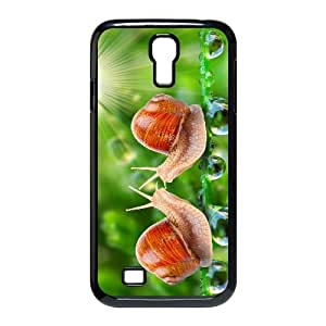 Samsung Galaxy S4 Cases Beautiful Snail Protective for Girls, Case for Samsung Galaxy S4 I9500 Protective for Girls [Black]
