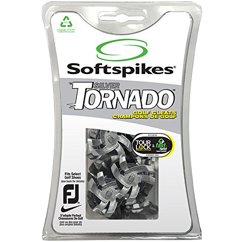 Softspikes Silver Tornado Golf Cleats - 18 Piece (Silver)