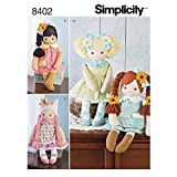 Simplicity Stuffed Doll with Clothes Art and Craft Sewing Template
