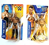 Network WWE Re-Create The Action of Two Fighter (CM Punk and The Rock) 2 Figures