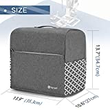 Yarwo Serger Sewing Machine Cover for Most Standard Overlock Machine,Black with Grid