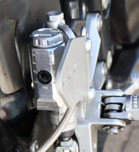 GSG Bremsfl/üssigkeitsbeh/älter Hinten silber eloxiert Kawasaki ZX-10R ZXT00D 06-07 ABE