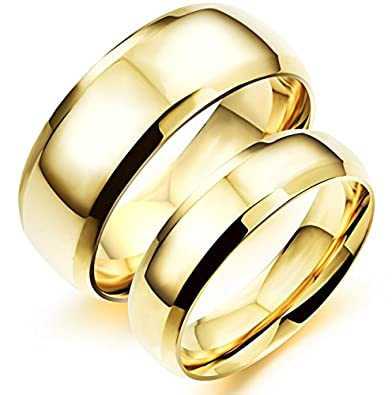 Buy Asma Fashion Ahead His & Hers Plain Golden Stainless Steel Men