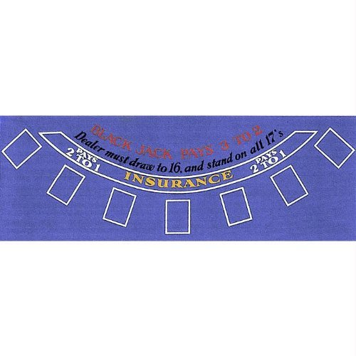 Trademark Poker Blue Felt Blackjack Layout 36-Inch x (Blackjack Felt)