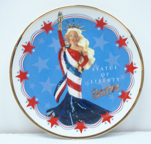 Barbie Statue of Liberty Limited Edition Plate