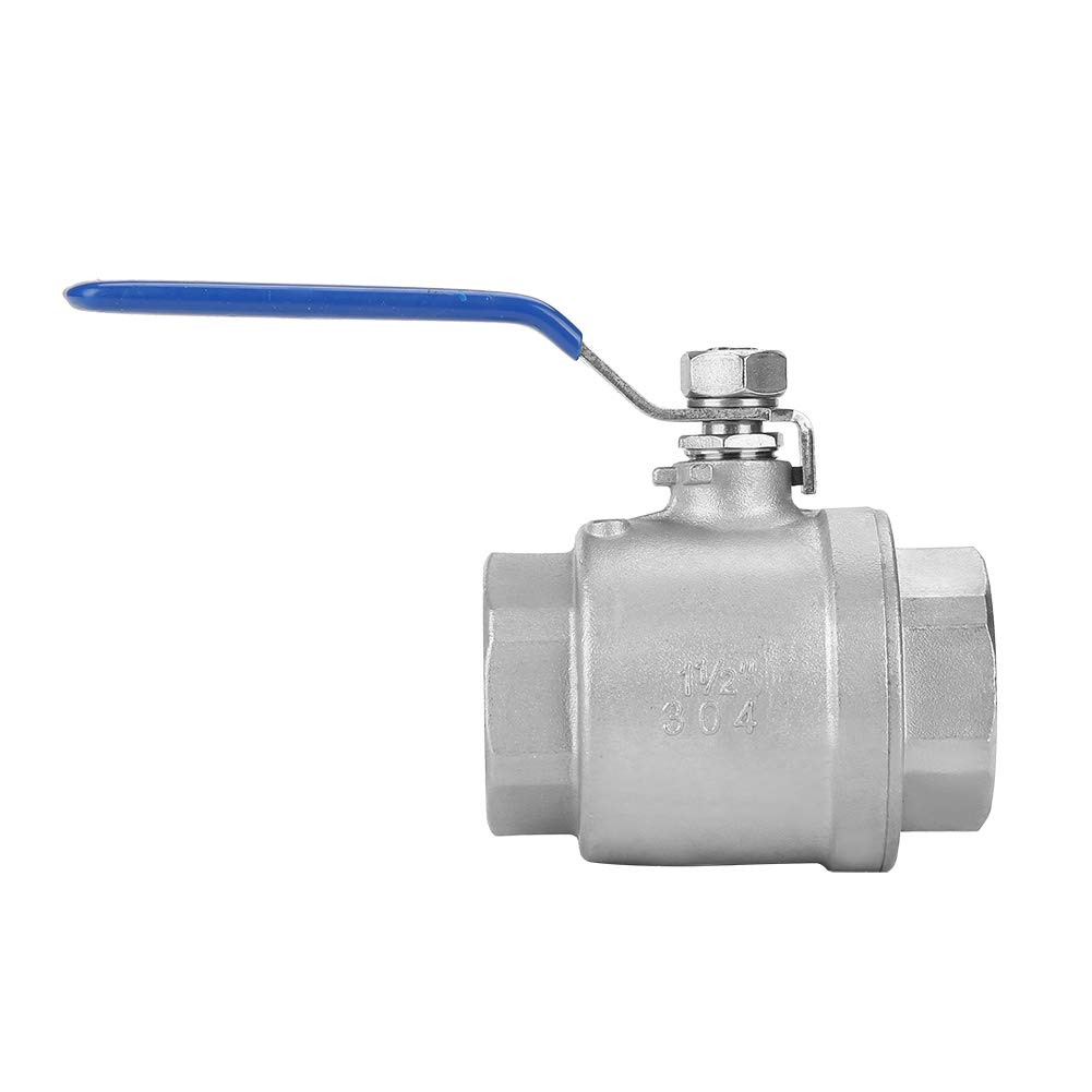 Ball Valve 304 Stainless Steel Two-Piece Female Thread Ball Valve for Flow Control Gas Suitable for Water Full Port Ball Valve 1-1//2 DN40 1000 WOG Oil