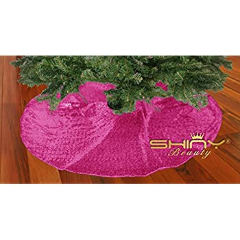 Amazon Com Trlyc Glittery Sequin Holiday Tree Skirt 48 Inch