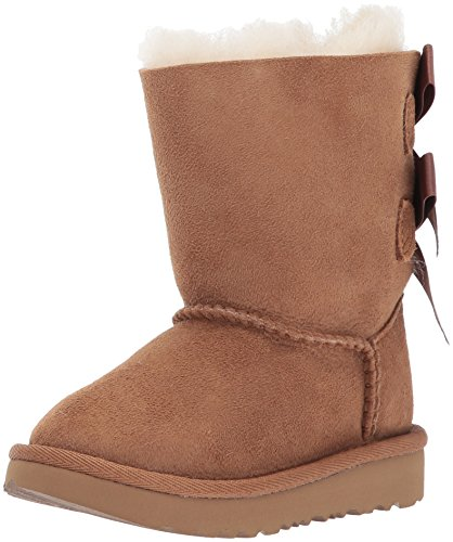 UGG Girls T Bailey Bow II Fashion Boot, Chestnut, 7 M US Toddler by UGG