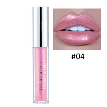 Amazon.com : Liquid Crystal Glow Lip Gloss Laser Holographic Lip ...