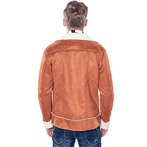 I Capelli Casualmente brown Cerniera Inverno In Giacca Del 'una E Invernale Collare Gli Cappotto Uomini Della xl Sono fxBxS8