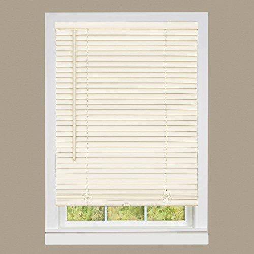 PowerSellerUSA Cordless Window Mini Blinds 1″ Slats Room Darkening Vinyl Blind – Beige, 32″ x 64″ (Length)